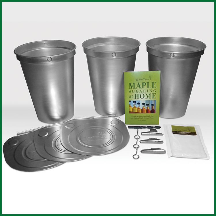 starter kit with aluminum buckets tap my trees maple sugaring